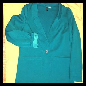 H&M Divided Ladies green one button blazer.